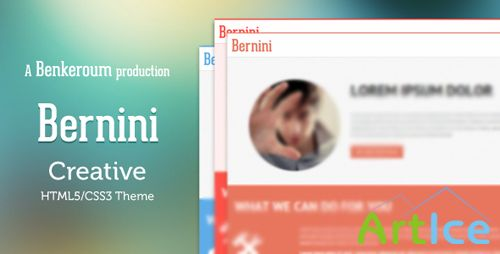 ThemeForest - Bernini - Creative HTML5/CSS3 Theme - RIP