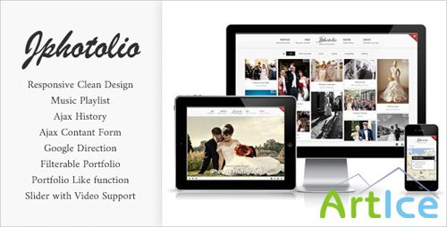 ThemeForest - JPhotolio: Responsive Wedding Photography Template