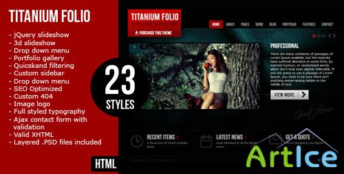 ThemeForest - Titanium Folio (HTML Full)