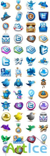 Original Vector Twitter Icons