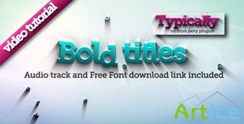 Bold Titles Logo Reveler (Project AE озвучен (VH)