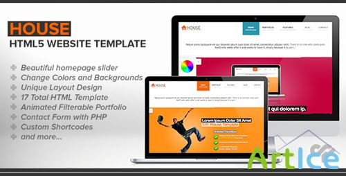 ThemeForest - House - Clean HTML Website Template