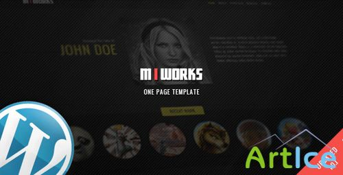 ThemeForest - MIWORKS v1.01 - WordPress One Page Template