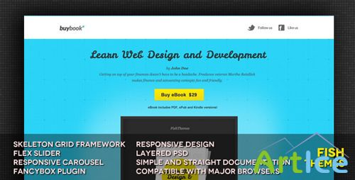 ThemeForest - BuyBook Responsive Landing Page