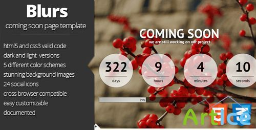 ThemeForest - Blurs coming soon template