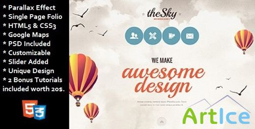 ThemeForest - The Sky - Unique One Page Folio
