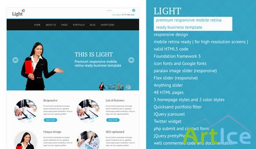 ThemeForest - Light - responsive mobile retina ready template