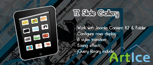 TemPlaza - TZ Slide Gallery v1.1 For Joomla 2.5 & 1.5