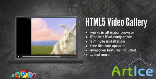 CodeCanyon - HTML5 Blue Video Gallery