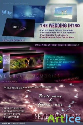 The Wedding Intro 1, 2, 3 - Project for After Effects (VideoHive)
