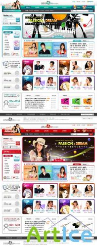 Hair Design Korea PSD Web Templates