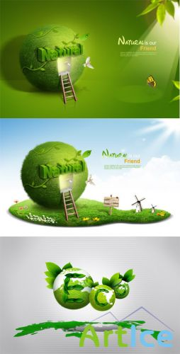 Nature is our friend PSD Sources