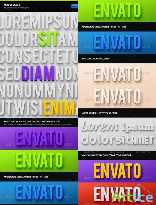 Graphicriver - 3d text effects 3042977 layered psd,jpg minimum adobe cs version: cs3 126 mb
