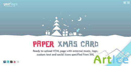 ActiveDen - Stop-Motion Paper Christmas Card XML