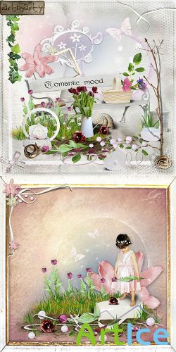 Scrap Set - Romantic Mood PNG and JPG Files