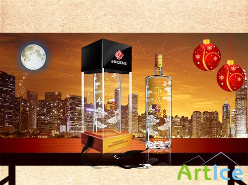 PSD Source - Advertising Elite Alcoholic Beverages