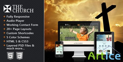ThemeForest - The Church - Responsive Site Template - FULL
