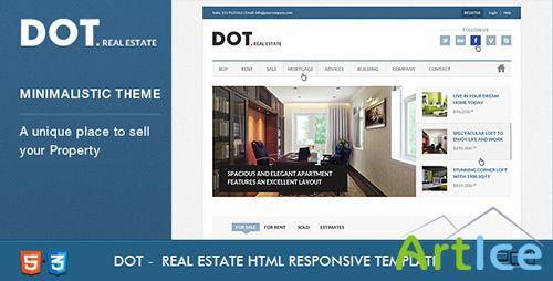 ThemeForest - Dot Real Estate HTML5 & CSS3 Template