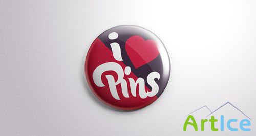 Pixeden - Psd Button Badge Pin Mock-Up
