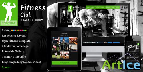 ThemeForest - Fitness Club - Responsive Gym Fitness Template - RIP
