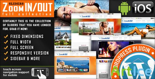 CodeCanyon - Responsive Zoom In/Out Slider WordPress Plugin v2.4 - Slider