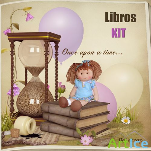 Scrap Set - Libros PNG and JPG Files