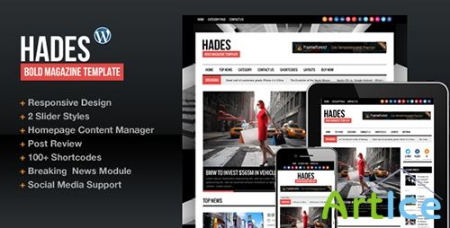 ThemeForest - Hades Bold Magazine Newspaper Template v1.6.1