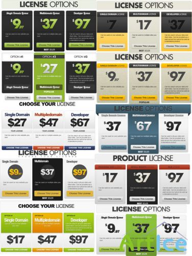 Web License Options Templates