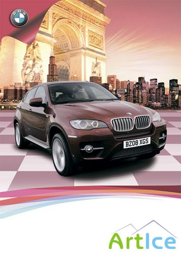 PSD Source - Advertising Car BMW X6