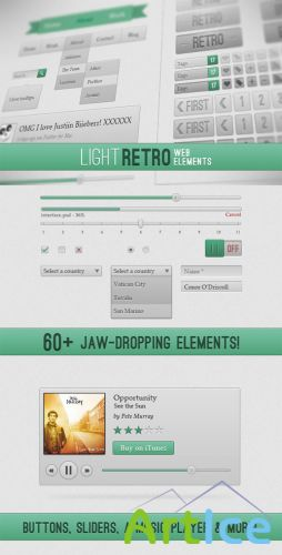 WeGraphics - Light Retro Web Elements