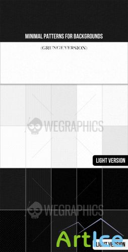 WeGraphics - Minimal patterns for backgrounds (Grunge version)