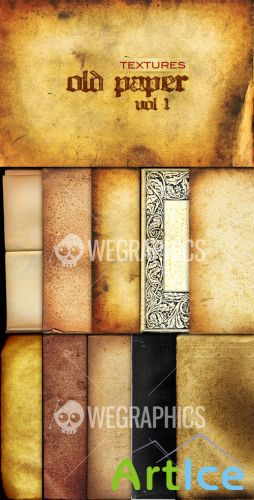 WeGraphics - Old Paper Textures Vol1