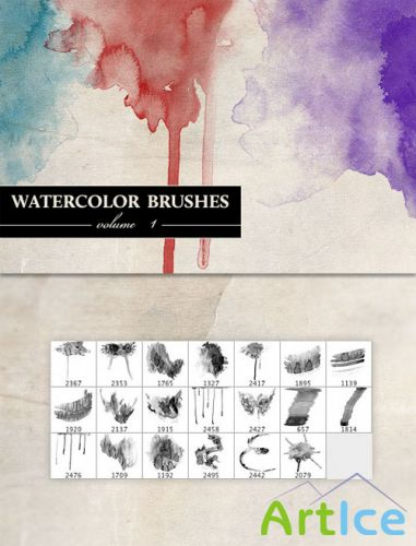 WeGraphics - Watercolor Brushes Vol 1