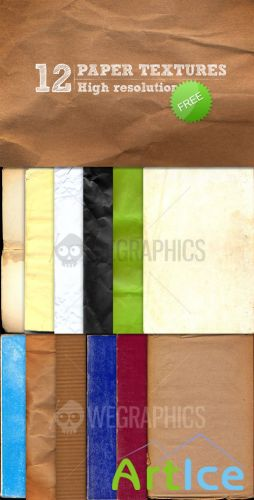 WeGraphics - 12 high-res paper textures