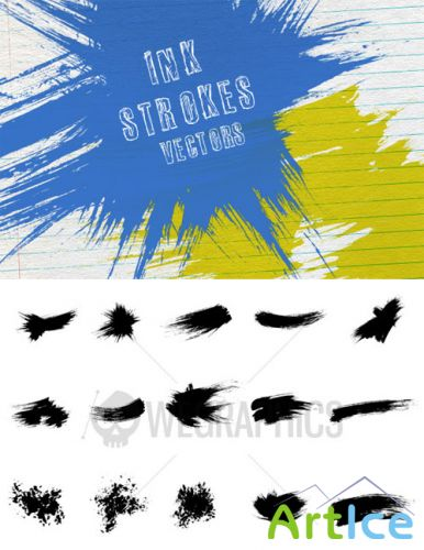 WeGraphics - 15 vector ink strokes