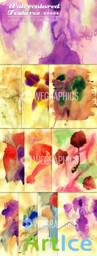 WeGraphics - 10 Grunge Watercolored Textures