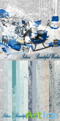 Scrap Set - Beautiful Winter PNG and JPG Files