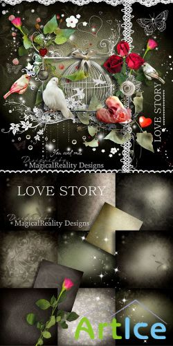 Scrap Set - Love Story PNG and JPG Files