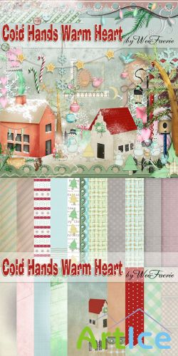 Scrap Set - Cold Hands Warm Heart PNG and JPG Files
