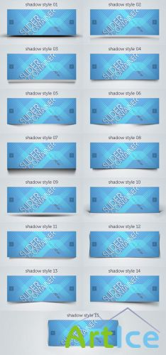 Pixeden - Web Slider Psd Shadows Pack