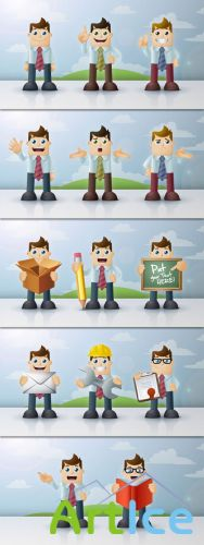 Pixeden - Business Man Vector Characters