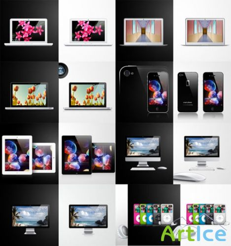 Pixeden - Apple Product Vector Pack
