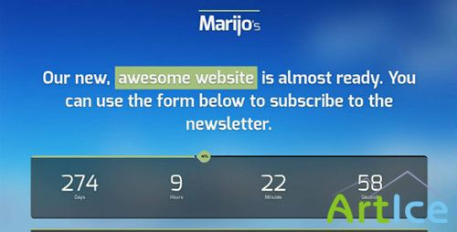 ThemeForest - Marijo - Responsive Under Construction Template - RIP