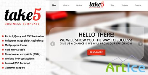ThemeForest - Take5 is a premium multipurpose template - RIP
