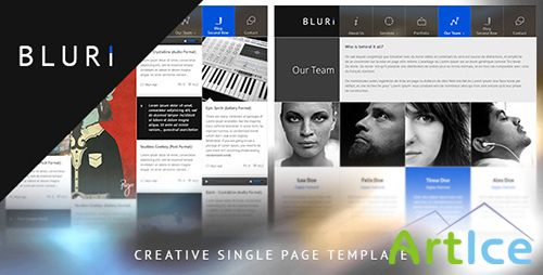 ThemeForest - BLURI Single Page HTML Template - RIP