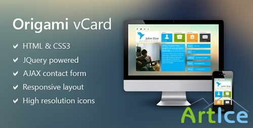 ThemeForest - Origami - Metro Inspired Vcard - RIP