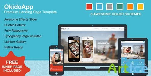 ThemeForest - OkidoApp - Responsive, Retina Ready Landing Page - RIP