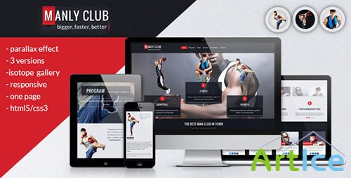 ThemeForest - Manly - Responsive Parallax One Page Template - RIP