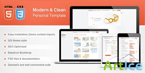 ThemeForest - Modern & Clean Personal Template - RIP