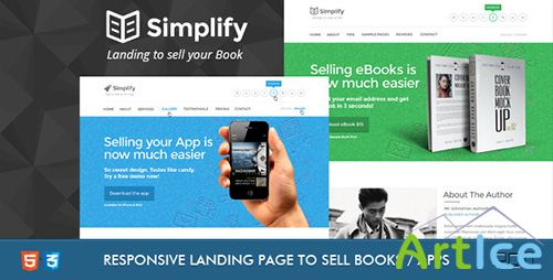 ThemeForest - Simplify - Sell your Book / App Landing - RIP
